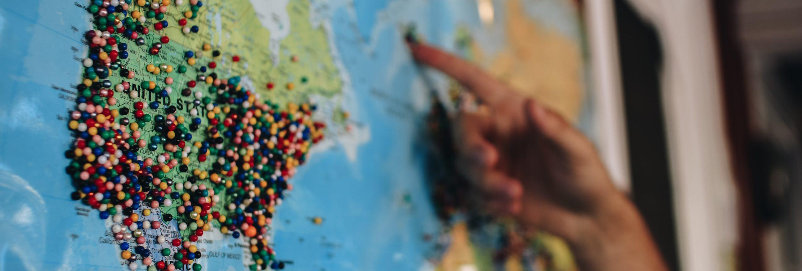 wereldkaart - De Planeet Reizen